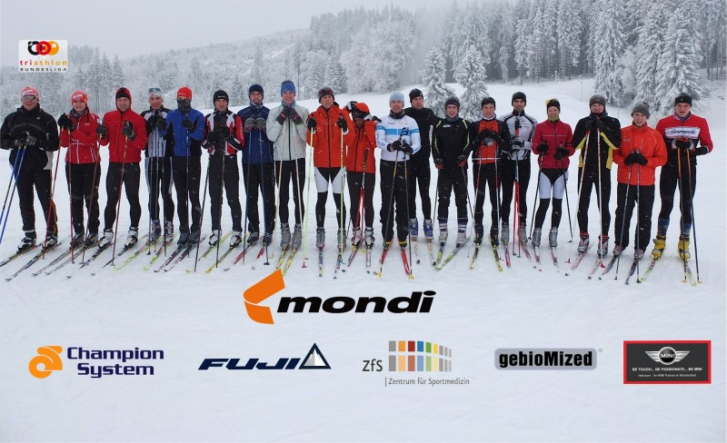 Bundesligakader im Skitrainingslager