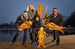 24. Mondi Advents-Aaseelauf in Münster unterstützt die Stiftung Mitmachkinder –Tatjana Pinto gibt den Startschuss
